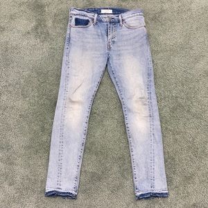 Levi's Altered 510 Deconstructed skinny jeans